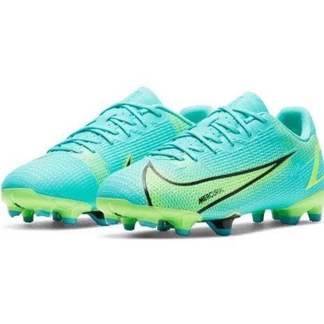Nike JR VAPOR 14 ACADEMY FG/MG,DYNAMIC T Kinder Türkis/ Limone