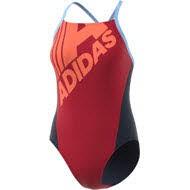 adidas FIT SUIT LIN Damen Rot/ Orange/ Schwarz