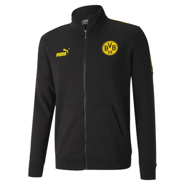Puma BVB Culture Track Jacket Herren/Unisex Schwarz/Gelb - Bild 1